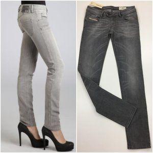 NWT DIESEL Italy NEVY Straight Skinny Leg Jeans